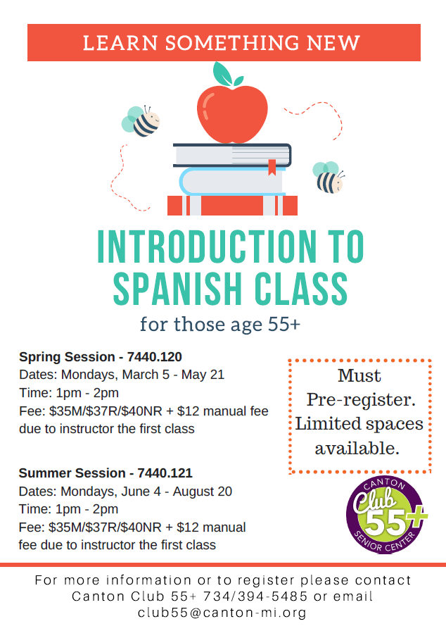 Learn Spanish class flyer