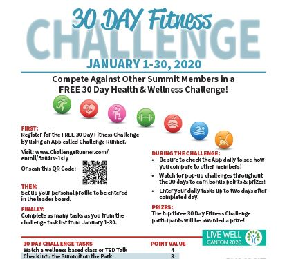 30 Day Fitness Challenge Graphic
